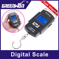 <50g Hanging Scale Yes Wholesale-New 50kg 10g LCD Display Digital Portable Electronic Travel Luggage Fishing Weight Hook Hanging Scale Free Shipping