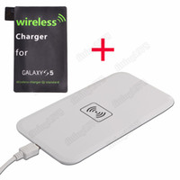 Wholesale Qi Wireless Charger Transmitter Charging Pad with Qi Wireless Charger Receiver for Samsung Galaxy S5 i9600