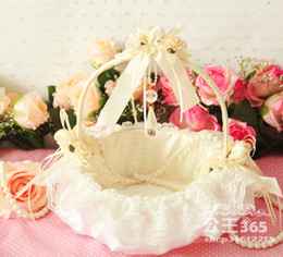 Wholesale LN Perfect Looking Wedding Flower Basket In Stock Portable Basket Hot Sale Petals Basket Good Quality Fast Delivery New
