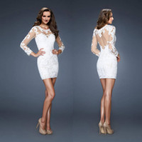 Reference Images Tulle Crew Cocktail White Graduation Dresses With Lace Sexy 8th Homecoming Dress 2015 Ball Gowns Long Sleeves Under $100 Short Mini Sheer Party Cheap