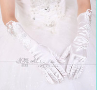 Wholesale 2014 Lovely new bride wedding flowers floral beaded wedding dress accessories gloves five fingers gloves
