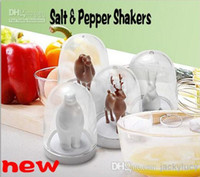 Wholesale Cute Animals Design Salt Pepper Shakers With Tray for Creative Home Kitchen Gadgets Table Decorations set