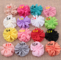 Wholesale Fabric Flower For Hair Accesories Chiffon flowers Ballerina Flower Children Hairband Free Shiping