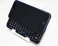 Wholesale Bluetooth Keyboard case for iphone5 Slide out Wireless Bluetooth Keyboard Back Case Cover for iphone5 G