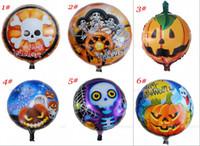 Wholesale Halloween x45cm Balloons Halloween pumpkin head Halloween balloon decoration balloon aluminum balloons