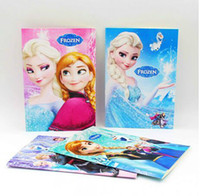 Wholesale 2014 new Cartoon Frozen notebook Ice Snow Queen Anna Elsa Writing Book Notebooks Children Stationery frozen Student Notepad christmas gift
