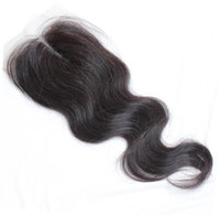 Lace Accessories Malaysian Hair Natural Color 6A Body Wave Top Closure 4*4 Virgin Brazilian Hair Closure Natural Black 1B Hair Closure Top Closure Dyeable Virging Hair Closure