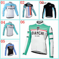 Wholesale Biachi Cycling Tops Long Sleee Jerseys Collection Autum Outdoor Pro Team Bike Clothing Clothes Anti Wrinkle Bicycle Wear Polyester Riding