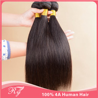 Wholesale AAAA Ryhair products virgin brazilian mongolian hair weaves human hair straight extensions hair wefts length inch in stock