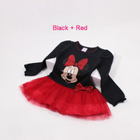 TuTu Spring / Autumn Ball Gown New baby girl's long sleeve party dress autumn hotsell fashion black bowknot sequins minnie mouse cartoon princess dresses baby clothes 2-6y