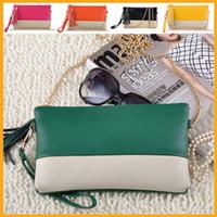 Wholesale 2014 Genuine leather Tassel Handbags Shoulder Bags Messenger Bag Day Clutch Chain Bag Small Bag Women s Clutches PL