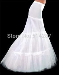 Wholesale Hot Sale Cheap High Quality Mermaid Petticoat Hoops White Wedding Dress Crinoline New Arrival
