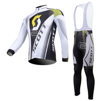 Wholesale SCOTT Professional team Cycling Bike Long Sleeve cycling Jersey cycling clothing bib pants Suit SIZE S XXXL