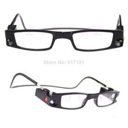 Wholesale Unisex Folded LED Magnets Reading Glasses With Lights PY