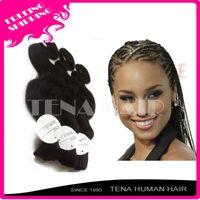 Wholesale Tena virgin brazilian hair bulk for braiding can dye color and restyle