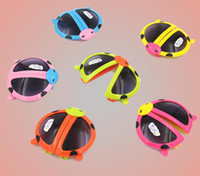 Sports animal shaped mirrors - Children mirror cartoon animal shapes children s sunglasses glasses folding baby child ladybug beetle