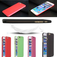 Wholesale 0 mm Thin Slim Matte Frosted Transparent Clear Soft PP Cover Case for iPhone inch iPhone Plus inch