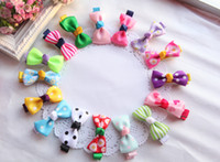 Hairband alligator clips - 20pcs Color Baby Girls inch Ribbon Bows Hair Clips Kids Stripes Dot Hair Pins Toddler Alligator Bow Barrette Headwear Hair Accessories