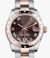 auto coffee - Ladys women new arrivel High Class Fashion coffee dial Automatic Mechanical Wrist Watch mm