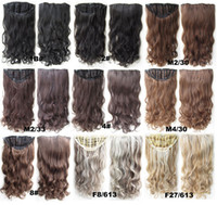 Wholesale 11 Colors Top Quality Clip In Hair Extension g quot Jessica Simpson Loose Curly Hairpieces Hair