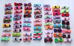 Wholesale 65Color Girl inch Ribbon Bows Hair Clips Kids Stripes Dot Hair Pins Toddler Alligator Flowers Barrette Hair Bows Headwear Hair Accessories