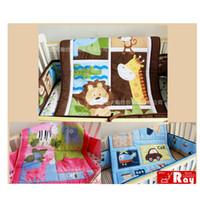 Cotton Soft Animal Baby Quilt Play Mat Nursery Bedding Applique 100% cotton Embroidery Butterfly Mix Boy Girl Patterns Order Baby Crib Cot Bedding