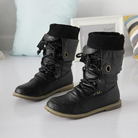 Roman Boots leather shoes for women - ENMAYER fashion motorcycle martin ankle boots for women winter snow boots leather flats boots shoes plus size