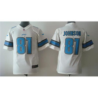 Wholesale Youth Calvin Johnson White Football Jerseys Childrens American Football Shirts Kids Cheap Stiched Team New Jersey Sale