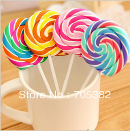 Wholesale Novelty Lollipop erasers Candy Funny Rubber Eraser Office Study Kids Gifts cute stationery SS