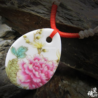 Pendant Necklaces China-Miao Women's Chinese style handmade ceramic jewelry, wholesale jewelry national wind long necklace woven clothing decorated with new funds