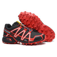 Men salomon shoes - Black Red Sports Shoes Fashion Mens Shoes Cool Outdoor Shoes Salomon Speedcross Athletic Shoes Jogging Shoes New Light Shoes