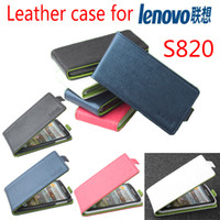 For Apple iPhone Metal Lenovo High Quality Green Bottom New Original Lenovo S820 Leather Case Flip Cover for S 820 Case Phone Cover In Stock Free Shipping