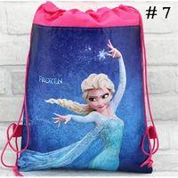 Wholesale Stylish Girls School Bags Kids Shopping Bags Best Christmas Gift Girls Bags Frozen Convenient Elsa Drawstring Backpacks