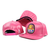 Wholesale Pink Leather Last Kings Snapback Hats Cheap Sports Caps High Quality Fashion Summer Caps Top Hats for Men and Women