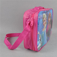 Wholesale Versipacks Kids Cross Body Frozen Cartoon Single shoulder Bags Girls School Bags Nylon Weave Figure Elsa and Anna Lunchbags