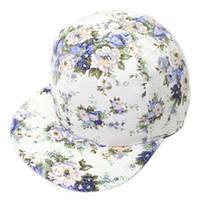 Ball Cap Red Spring & Fall Snapback hats Korean fashion printing hip-hop hip-hop hat cap tide male Korean baseball cap hat ladies wholesale floral flowers baseball ca