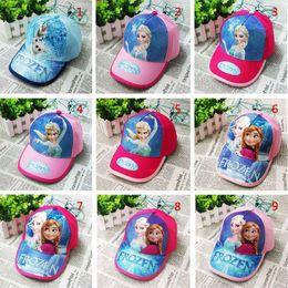 Wholesale 4colors Frozen princess fashion snapback hats high quality polo hats men s and women baseball cap cotton