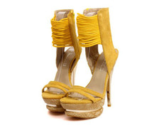 ankle strappy sandals - Celebrity Strappy Women Ankle Strap Shoes High Stiletto Heel Pumps Party Club Sandal hyl1228