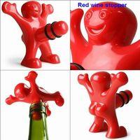wine stopper - 10PCS happy man open bottle opener A spoof on Red wine stopper