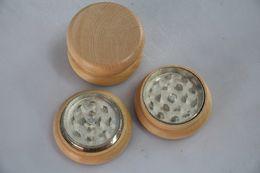 Hand Muller Tobacco Grinder Dry Herb Grinder Smoke Detectors For Dry Herb E-Cigarette Solid Wooden Tobacco Metal CNC teeth