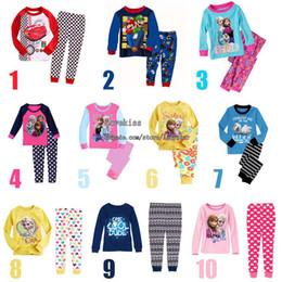 Wholesale Frozen Child Pyjamas Kids Sleepwear Children Clothing Boy Girl Baby Pajamas Childrens Sleepwear Kids Underwear Toddler Pajamas Kids Clothes