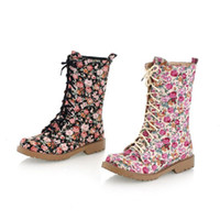Wholesale ENMAYER Autumn Winter keep warm canvas boots cow muscle women s fashion printed flowers boots