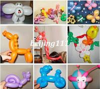 Cheap 100Pcs mixed color Magic Long Animal Tying Making Balloons twist Latex Balloon Hot!