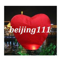 Cheap free shipping wholesale Fire Sky Lanterns Wishing Balloon Red Heart Chinese BirthdayChristmas wedding 30pcs lot