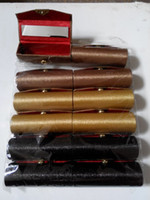 lipstick case - Empty Lipstick Cases with Mirror Lip Balm Packaging Tubes Solid Silk Fabric Lip gloss Storage Container