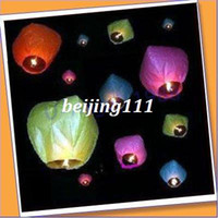 Cheap Free Shipping 10pcs lot heart Sky Lanterns, Wishing Lamp SKY Chinese Lanterns fire balloon for Birthday Wedding Party