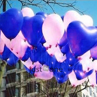 Wholesale 90x Heart Balloons Dark Blue Hearts Quality LATEX Helium Ballon Lovely for Party