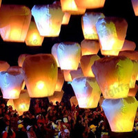 Multicolor Heart PA BL28 Romantic Love Chinese Sky Lantern with Fuel Paper Kongming Flying Wishing Lamp For Wedding Party Balloons & Lights(10pc