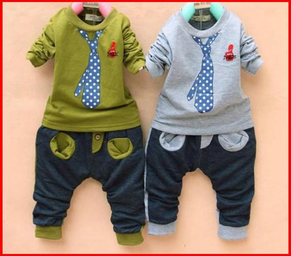 Buy 2016 Sping Autumn Boy Clothing Set Fake Tie Tshirt + Harem Pants Casual Children Sets Baby Kids Suits Outfits 2-6T Melee