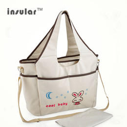 Wholesale Insular Microfiber Baby Diaper Bag Multifunctional Tote Mommy Bag Shipping Free
